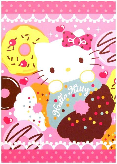 hello kitty kawaii wallpaper sanrio hello kitty doughnuts kawaii notebook kawaii