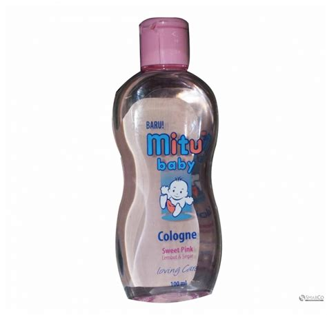 Pink Green Mitu Baby Cologne 100ml detil produk mitu baby cologne pink 100 ml 6061010060567