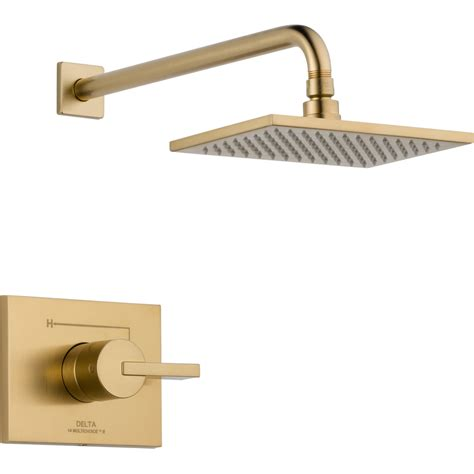 Delta Vero Faucet by Shop Delta Vero Chagne Bronze 1 Handle Shower Faucet