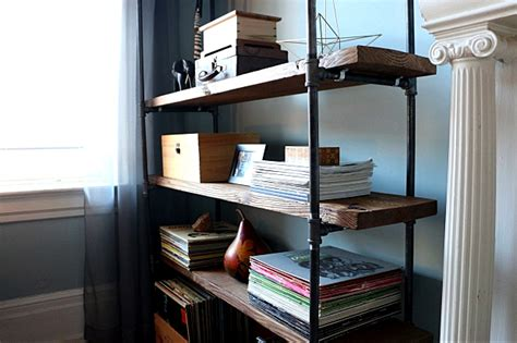 how to make a freestanding industrial pipe bookcase ehow