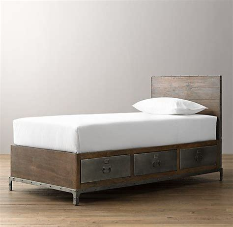 industrial beds industrial locker storage bed boys room pinterest