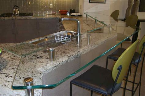 glass bar top glass kitchen counter bar top floating glass bar top