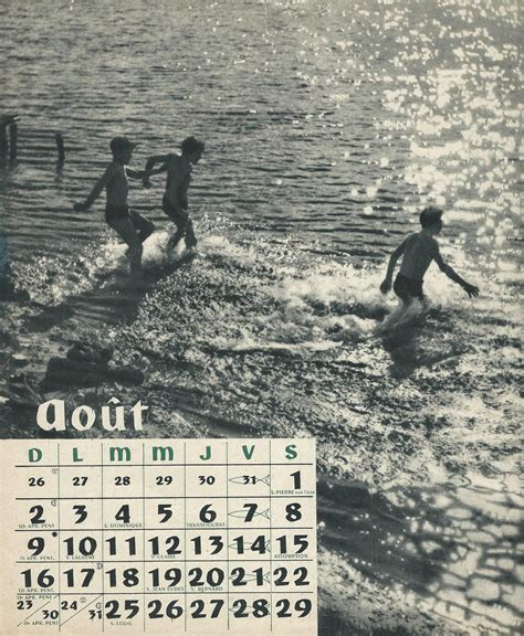 Calendrier De 1953 Calendrier Scouts De De 1953 Latoilescoute