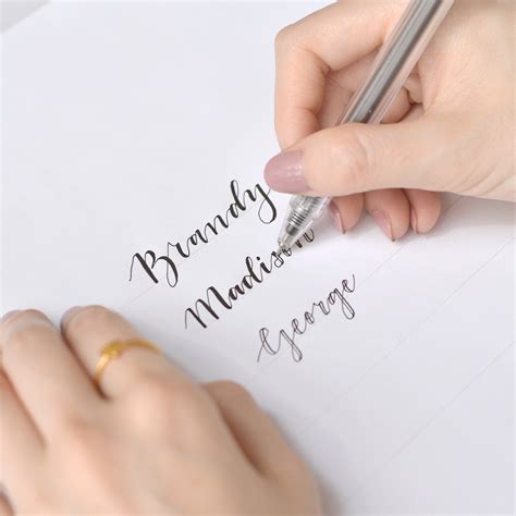 do you write wedding place cards 6 steps to faux calligraphy for your wedding place cards