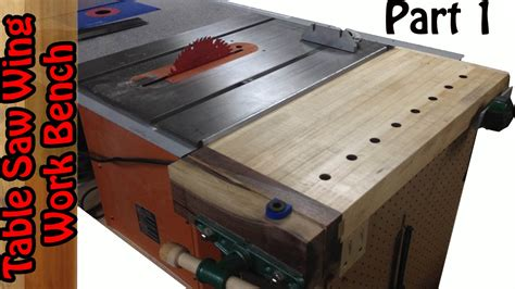 bench saw vs table saw tablesaw wing work bench build 1 youtube