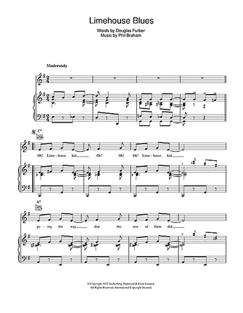 rosemary clooney vocal range limehouse blues sheet music by rosemary clooney piano