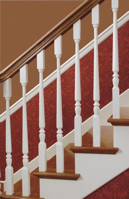 wooden banister parts wood balusters traditional staircase other metro by custom hardwood stair parts