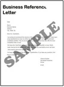 how to write a business reference letter sles