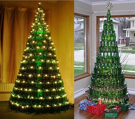 christmas trees made with recycled bottles metaefficient