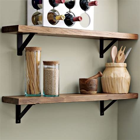 kitchen wall shelf salvaged wood shelf traditional display and wall shelves by west elm