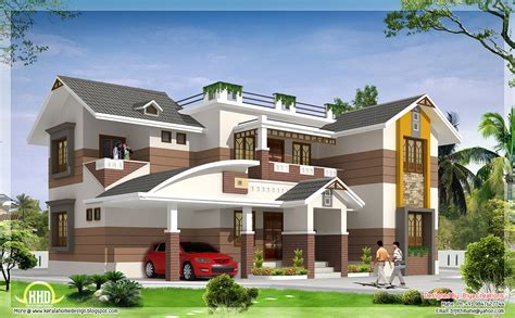 beautiful home designs photos 2700 sq feet beautiful 4 bedroom house elevation kerala