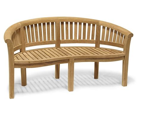 teak banana bench modern teak banana bench table and chairs set