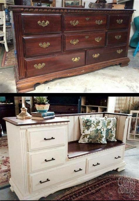 diy dresser bench diy old dresser into a gorgeous bench with storage drawers