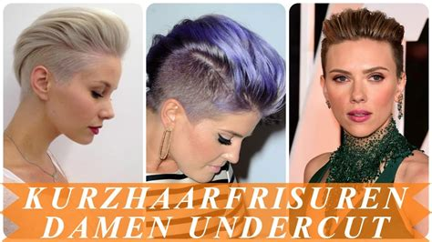 schone undercut frisuren frau kurze haare  youtube