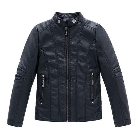 infant leather jacket pu jaqueta de couro infantil infant