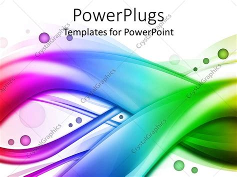 colorful powerpoint templates free powerpoint template rainbow colored wavy swirling bands