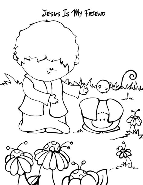 bible coloring pages for sunday school lesson friends