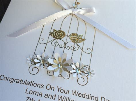 Handmade Wedding Cards Uk - handmade wedding card lace bird cage handmade cards