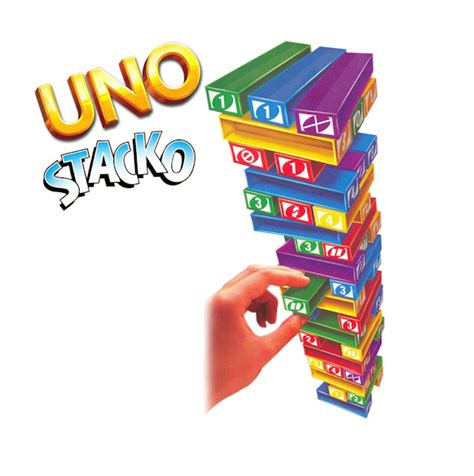 Uno Stacko Boardgame uno jenga stacko strategy toys and