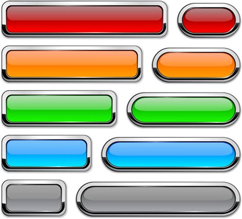 web layout button vector web buttons creative design set 01 vector web