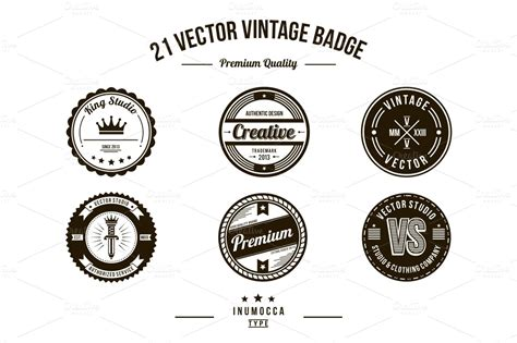 vintage badge template 21 vintage badges clear logo templates on