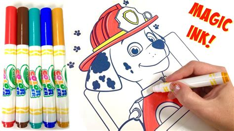 magic ink coloring books paw patrol marshall crayola magic ink marker coloring book