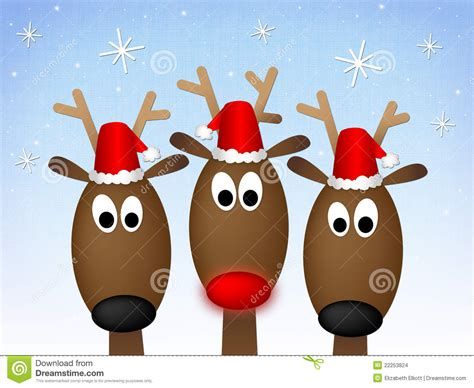 merry christmas reindeer stock illustration image of