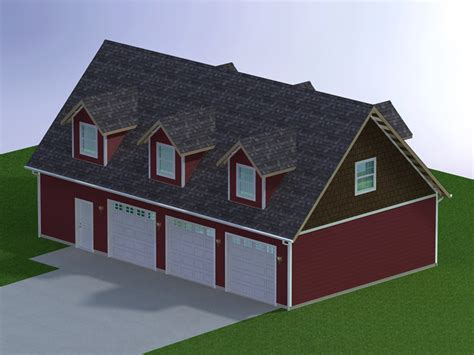 6 car garage plans 48 x 28 three car garage with attic