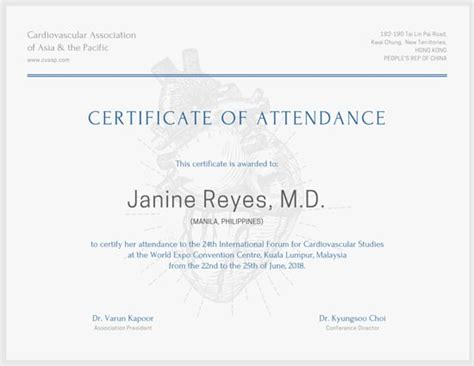 international conference certificate templates customize 48 attendance certificate templates canva
