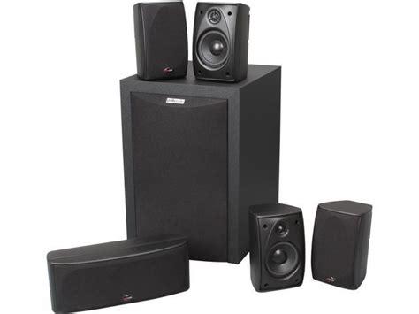 polk audio rm black  ch home theater speaker system