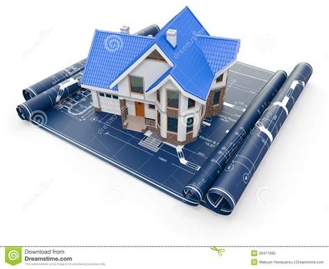 House Construction Blueprints residential house on architect blueprints housing project