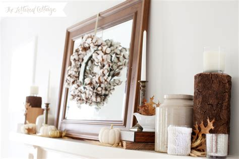 Thrifty Home Decorating Blogs by Fall Mantel Decorating Ideas The Lettered Cottage