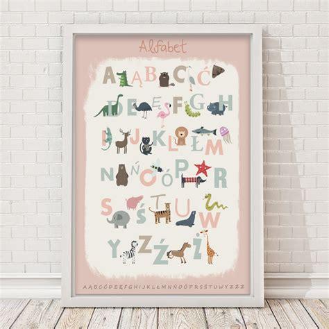 Plakat Alfabet by Plakat Alfabet R 243 żowy Room