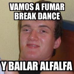 Alfalfa Meme - meme stoner stanley vamos a fumar break dance y bailar