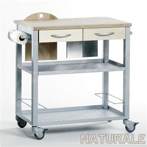 carrello cucina carrello da cucina professionale chef con ripiano in legno