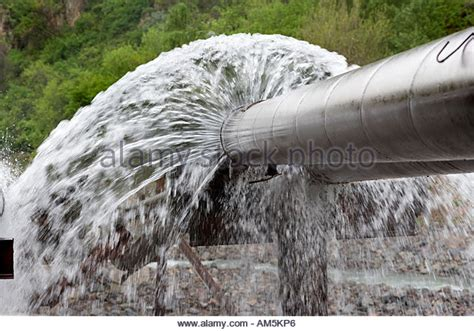 salt l leaking water broken water pipe stock photos broken water pipe stock