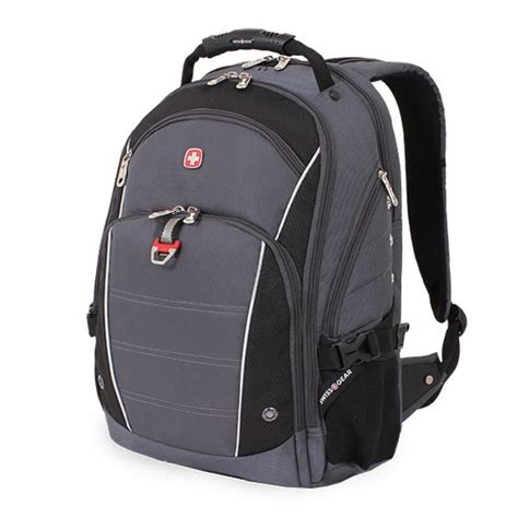 swissgear 18 5 in grey and black computer backpack