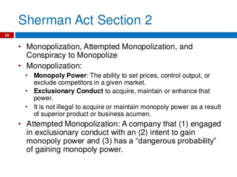 section 2 of the sherman act strafford presentation powerpoint