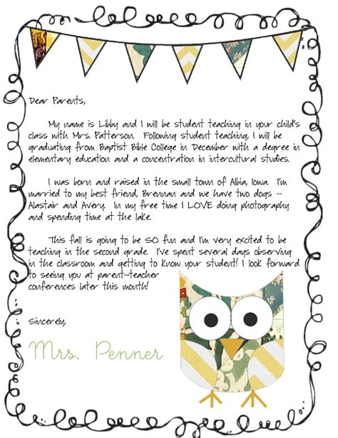 letter to parents template from teachers meet the letter classroom ideas