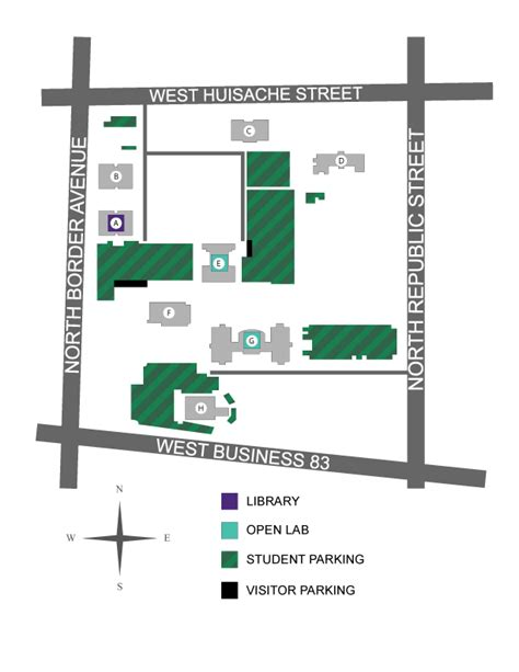 south texas college map cus maps library