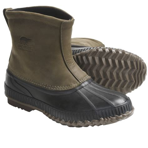 mens slip on waterproof boots sorel cheyanne premium waterproof insulated leather boots