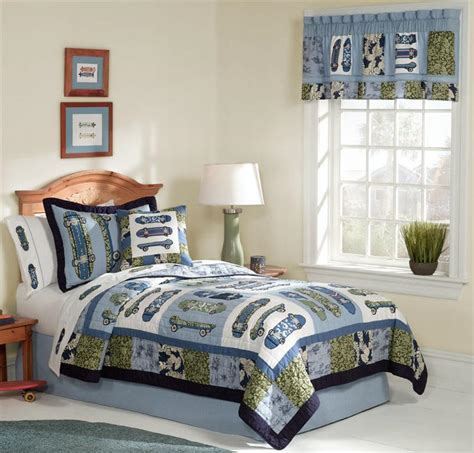skateboard bedding boy teen tropical skateboard twin quilt kid bedding set ebay