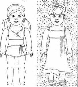 American Girl Doll Coloring Pages Free Photo  1 sketch template