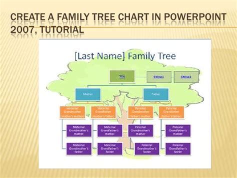 6 Ict Tutorial Create A Family Tree Chart In Power Point 2007 How To Make A Family Tree In Powerpoint