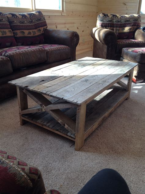 pinner wrote latest project pallet wood coffee table