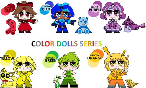 Colourful Arts Series 7 Tshirtkaosraglananak Oceanseven color doll series adoptables by mira3lawlz on deviantart
