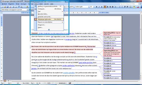 layout word aanpassen wijzigingen bijhouden en opmerkingen in word