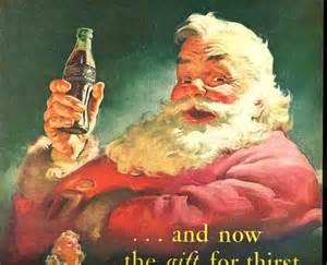 Vintage christmas santa claus 1951 advertisement coca cola