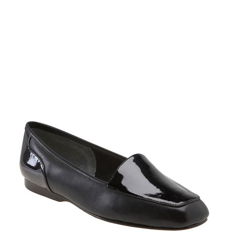 enzo angiolini flat shoes enzo angiolini liberty flat in black black patent lyst