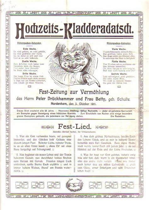 Hochzeit Zeitung by Hochzeitszeitung Hochzeits Kladderadatsch Hochzeits